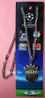5 Stars Brazil Brasil National Soccer Team Bronze Pendant Necklace