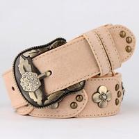 Fashion rhinestone vintage belt Women all-match belt genuine leather inlaying strap women's