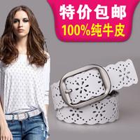 Women's genuine leather strap Women fashion cowhide wide belt women's all-match belt