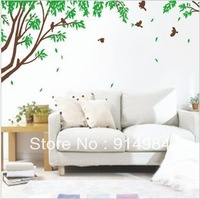 Free shipping parlour bedroom decoration Sofa TV background can remove Wall sticker The branch