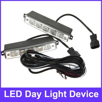 2 PCS Practical 0066 Universal LED Daytime Running Lights Lamps Kit