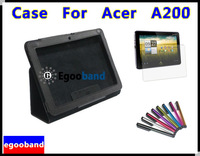 HK/SG POST Stand for Acer Iconia Tab A200+Transparent screen saver+Free gift touch pen