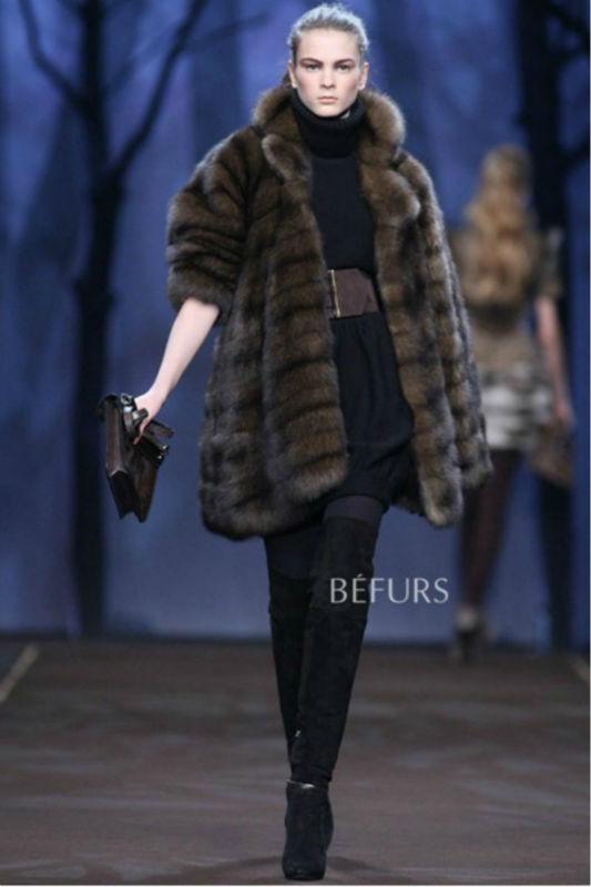 2012 modern women fur coat russian royal top sable super luxury mink