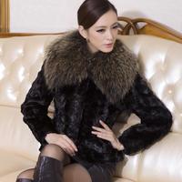 Mink hair marten overcoat short design women's fur coat 2012 marten overcoat