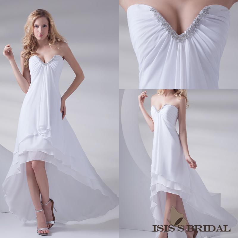Beach Wedding Dresses Short In Front Long In Back : Aliexpress buy actual real sample elegant beaded