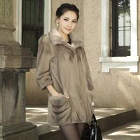 Lafon 2012 large pocket mink fur coat marten overcoat Women