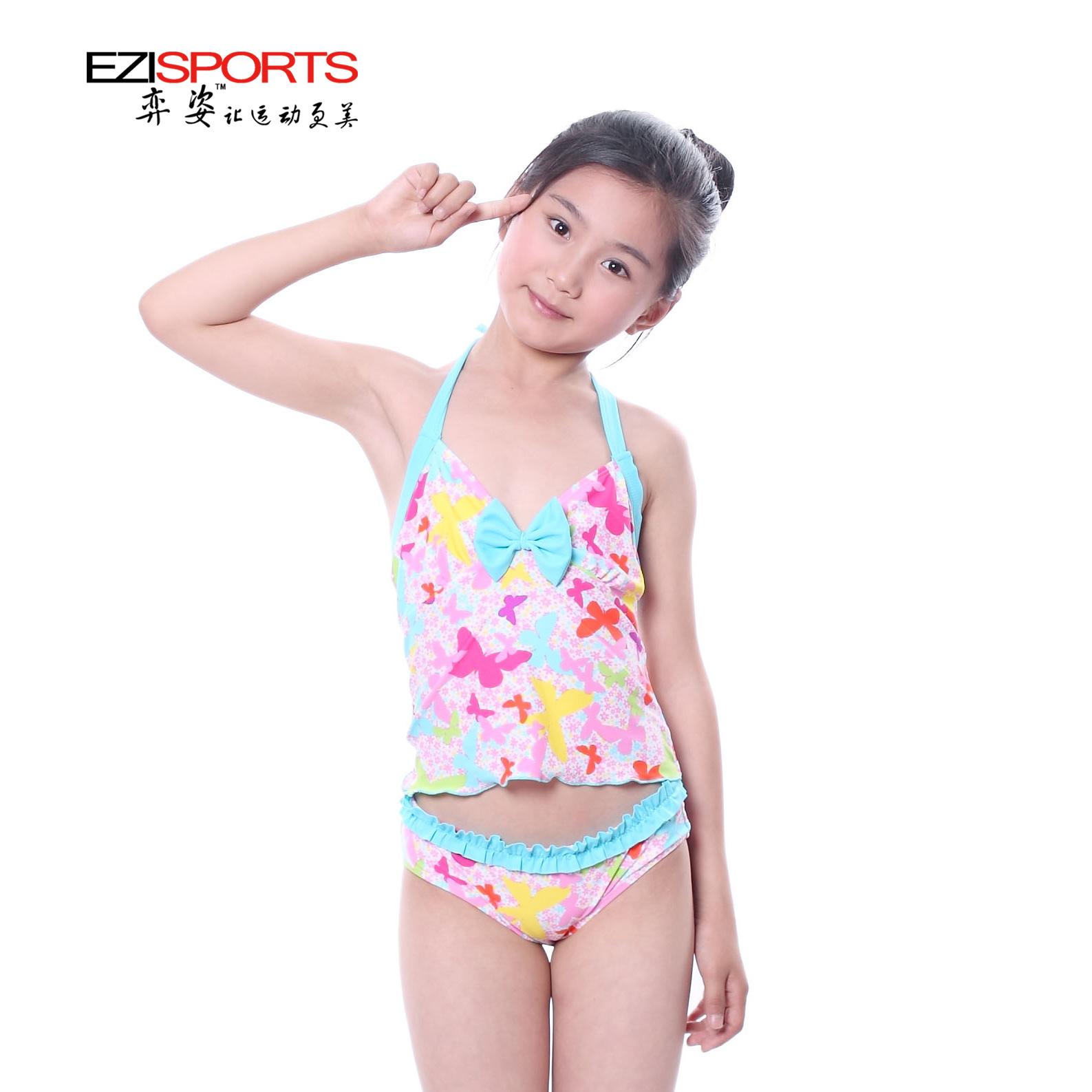 Весна женское купальный костюм сладкий подростковые разрез купальный костюм