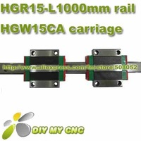 Original HIWIN Linear Rail Guide HGR15 -L1000mm with HGW15CA HIWIN linear block carriages