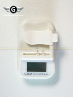 Free shipping! 2pcs/lot LCD Universal Travel Charger for mobile phone LCD USB Battery Charger