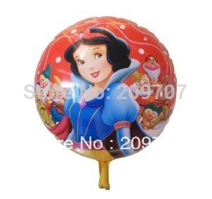 "20Pcs/Lot  Free Shipping 18.5"" Inch Snow white and the Seven Dwarfs Balloons Party Favors Balloon"