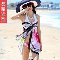wholesale new style Sweet beach cape sexy bikini beach silk scarf