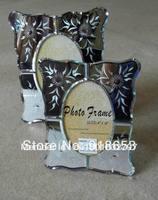 "Modern design silver mirrored photo frame 4x6 or 5x7"""