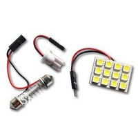 Free shipping Wholesale Auto bulbs panel lamp T10 Dome light 12SMD 5050 8pcs/lot