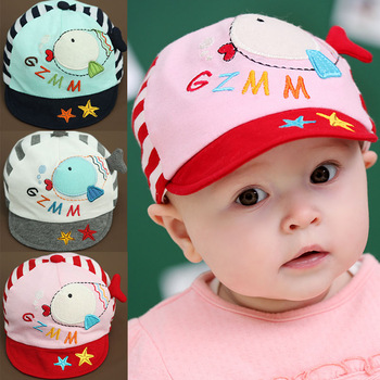 New spring and summer lovely kids hat animal shaped baby baseball cap infant cute cricket-cap for 6-24month