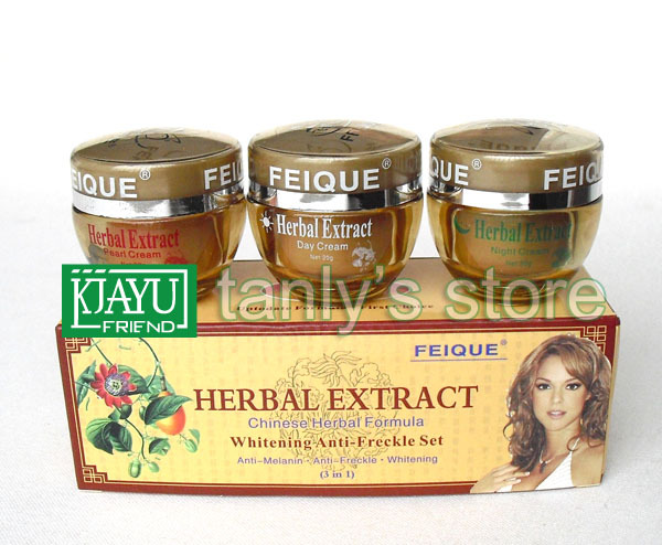 wholesale whitening cream for face Herbal extract Chinese Herbal Formula whitening anti freckle set 3 in 1