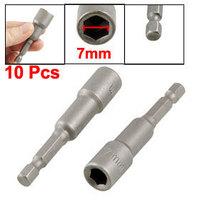"10 Pcs 1/4"" Shank 7mm Hex Socket Spanner Wrench Nut Setter Driver Bits"
