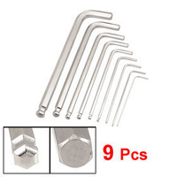 9 Pcs Ball Point 1.5mm 2mm 2.5mm 3mm 4mm 5mm 6mm 8mm 10mm Hex Key Wrench Tool