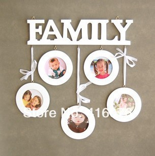 Family Theme Combination Photo Wall Heart to Heart Wooden Photo Frame Home Decoration Gift Hot Selling! P1001