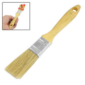 "1"" Wide Wood Color Wooden Handle Grip Beige Bristle Painter Painting Brush 3 Pcs free shipping"