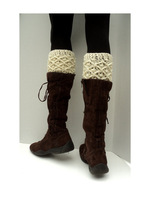 wholesale women teen Crochet Leg warmers boot Cuffs Boot toppers, ivory, boot socks, new year sale, 2pair/lot