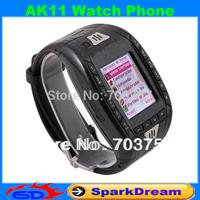 AK11 Watch Phone With Single SIM Card Camera FM Bluetooth Ebook 1.2 Inch Touch Screen Watch Phone