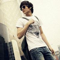 free shipping 2013 male t short-sleeve T-shirt male basic shirt vintage slim trend clothes t-shirt