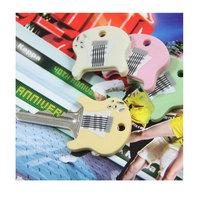 2014 Guitar shaped key cover key ring Key Chains 3*3*0.5cm Free Shipping