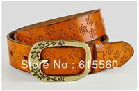 All-match embossed cowhide women's belt fashion women's strap decoration women's genuine leather belt