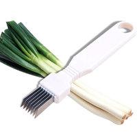 Onion Kitchenware Vegetable Cutter Scallion Kitchen Knife Shred Tools Slice Cut #N572