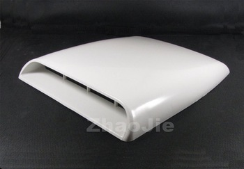 Car decorative Air Flow Intake hood Scoop Vent Bonnet Cover White universal