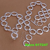 S1240 fashion jewelry sets 925 silver sets pendants bracelet earrings for women Full O Kit  /alma jcta