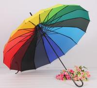 wholesale Umbrella 16k rainbow umbrella pagoda umbrella long-handled umbrella princess umbrella