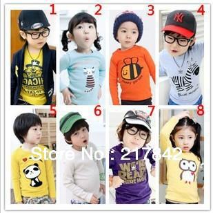 Limited promotionboys girls fall tee shirts fit 2-5Y childrens t shirt 2pcs/lot MAMA and PAPA 100%knitting cotton free shipping(China (Mainland))