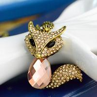 wholesale 10pcs/lot Accessories fox decoration long necklace female accessories long design