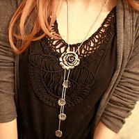 wholesale 10pcs/lot Accessories flower decoration long necklace female accessories long design vintage