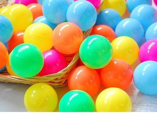 Free Shipping 100pcs/lot Eco-Friendly Colorful Soft Plastic Tent Water Pool Ocean Wave Ball Baby Funny Toys 5.5cm Wholesale
