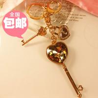wholesale10pcs/lot Keychain car accessories women's bags buckle bags pendant big key lock gem