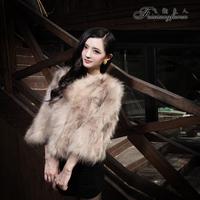 Fur outerwear 2012 raccoon fur short design fur female