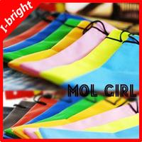 I-bright Glasses storage bag fashion water-proof cloth bag multi-color 30pcs/lot Free Shipping