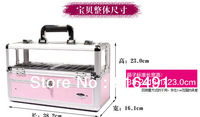 Free shipping, 2013 new type mutifuction cosmetics case, Medium nail cosmetics case,cosmetic handbox,BB155C