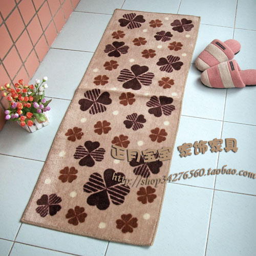 Lengthen carpet mat rustic kitchen floor mats push pull door mat 45 120 lucky grass circled thin(China (Mainland))