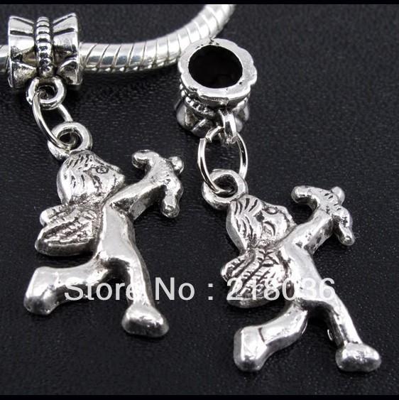 HOT Wholesale Fashion 150pcs Tibetan Silver Cupid Angel Pendant Beads Fit Charms Bracelet 32mm 15mm B513