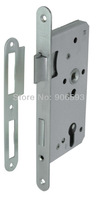 6pcs lot free shipping Modern stainless steel classic mortise lock body/lock/door lock/mortise lock