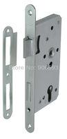 6pcs lot free shipping Modern stainless steel classic mortise lock body/lock/door lock/mortise lock