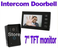 """7"""" TFT Color Display Wired Video Door Phone Doorbell Intercom System Night Vision Nightvision DHL free shipping"""