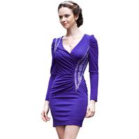 new style  advanced slim long-sleeve one-piece dress