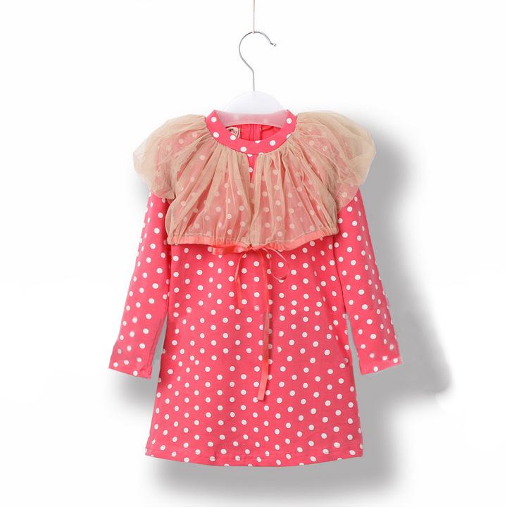 2013 spring gauze one-piece dress one-piece dress female child long design t-shirt girls clothing(China (Mainland))