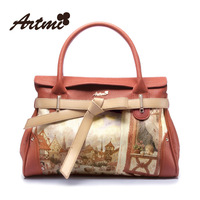 Artmi2013 hot sale fashionable spring sweet casual vintage oil painting print bag handbag shoulder bag