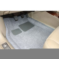 Auto Car Thickening Plush 3D Skidproof Floor Mat Foot Pad Carpet Car Gray Beige
