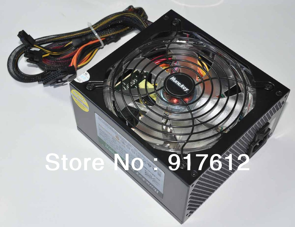 Huntkey Switching Power Supply R80 500M 80Plus 500W AC Input 100V~240V 14CM Silent Fan hybrid module cable management design(China (Mainland))